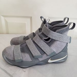Nike Zoom Lebron Soldier Gray Basketball Shoes